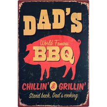 DADS BBQ Vintage Tin Sign Bar Pub Home Wall Decor Retro Metal Art Beer Coffee Poster Plate 1001(18)