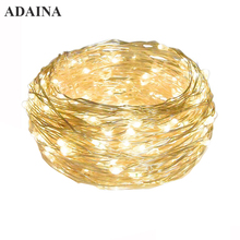 5M/10M 100 LEDs Waterproof Copper Wire LED String Light 3AA Battery Operated Fairy String Lights Outdoor Decoration for Bedroom