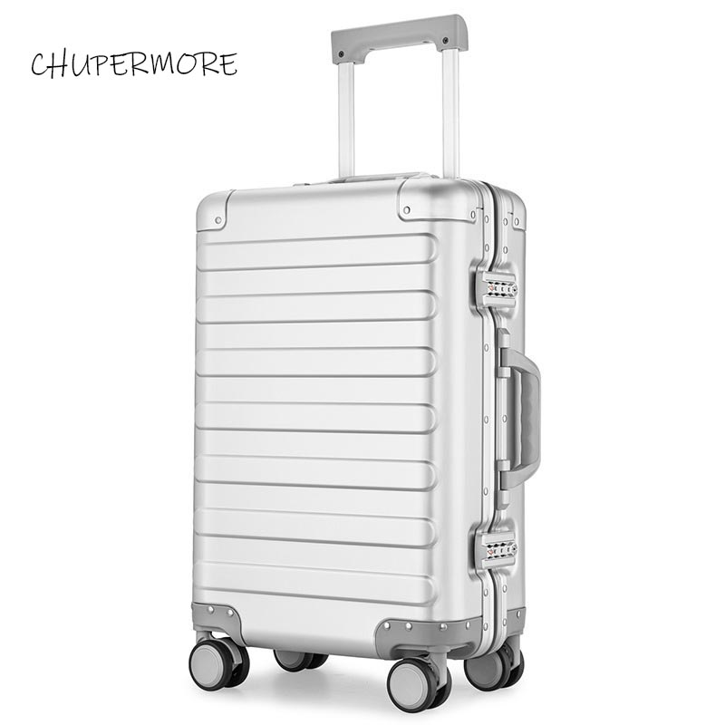 high quality 100% Aluminum-magnesium alloy Rolling Luggage Spinner 20 inch size Brand Carry Ons Suitcase Wheels Trolley