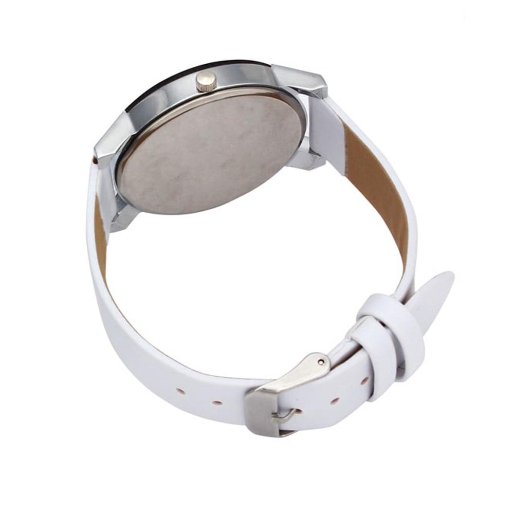 2018 Baru Kedatangan Pria Kuarsa Dial Jam Kulit Wrist Watch Putaran - Jam tangan wanita - Foto 4