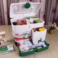 free shipping Home first aid kit health care drug box Emergency Kit household medicine box child small pyxides Pill Cases
