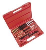 42PCS Automotive Universal Metric MM Damaged Thread Repair Tool Auto Repair Garage Tools AT2113