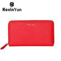 KEVIN YUN Designer Brand Women Wallets Long Split Leather Ladies Clutch Wallet Purse Fashion