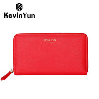 KEVIN YUN Designer Brand Women Wallets Long Split Leather Ladies Clutch Wallet Purse Fashion
