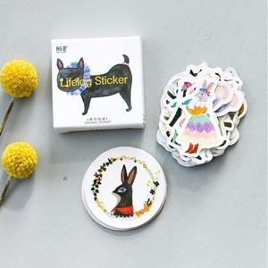 Image 2 - 45 sztuk/pudło las koncert zwierzęta Mini papier dekoracja naklejki Album DIY pamiętnik Scrapbooking naklejki etykiety Kawaii biurowe