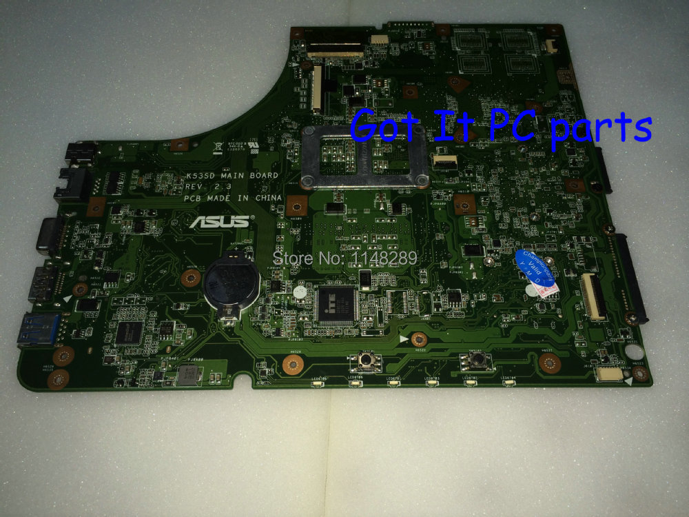 ФОТО Working + NEW !!!  FREE SHIPPING  Main board for ASUS K53E  K53SD  REV : 2.3 Laptop motherboard..