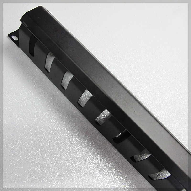19-дюймовый 1U утолщение стальные шкафы сетевой кабель управления Кабельный Организатор 12 управления кольцо HHT-LXB подходит для amp