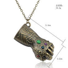 Best Marvel Avengers 3 Thanos Glove Infinity Stones Necklace Cheap