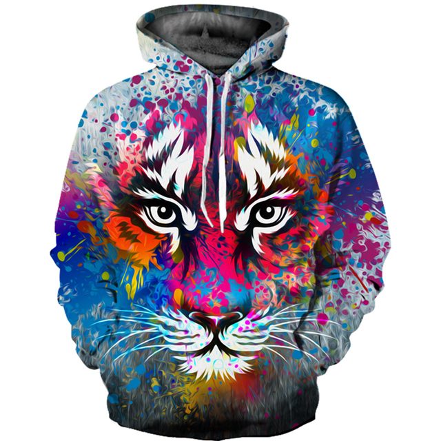 d7fd4909a988 2018 New Fashion 3D Printed Hoodies Sweatshirt Men Women Funny Tiger Animal  Hoodie Autumn and Winter Hooded Pullover & Jacket