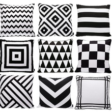 Cushion-Cover Pillow-Case Sofa And Rug Rhombus Geometric Plaids Triangles-Chevron Pattern