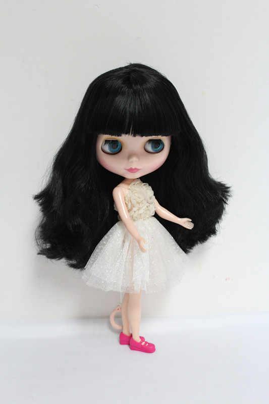 O Envio gratuito de big desconto RBL-33DIY Nude Blyth boneca de presente de aniversário para menina 4 cores grandes olhos bonecas com Cabelo bonito brinquedo bonito