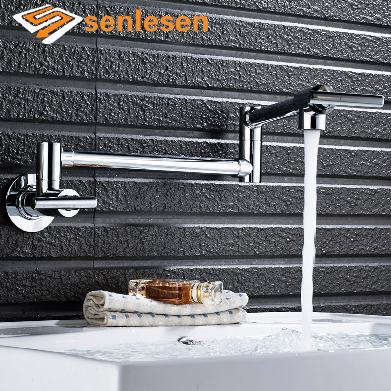 Wholesale And Retai Basin faucet Hot Sale only cold or hot folding Bathroom Faucet Chrome Brass Vanity Sink Mixer Tap wholesale and retail chrome brass bathroom basin faucet single handle hole vanity sink mixer tap solid brass hot and cold mixer