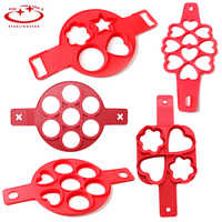1PC New Fantastic Different Shapes Nonstick Shape Fried Egg Ring Mold Silicone Square Heart Circular Pancakes Kitchen Tools