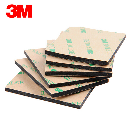 with Original 3M 300LSE 9495LE Glue EVA Foam Double Sided Adhesive Tape Pad Mounting Tape 54mmx44mmx3.2mm Black