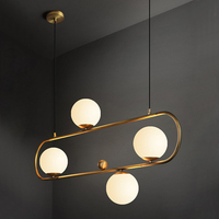 Скандинавский дизайнер Лофт кафе Led подвесной светильник Ретро промышленная Геометрическая креативная столовая гостиная подвесные светил