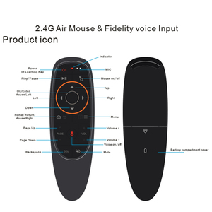 Image 2 - kebidu G10s Fly Air Mouse Mini Remote Control G10 Wireless 2.4GHz For Android Tv Box With Voice Control For Gyro Sensing Game