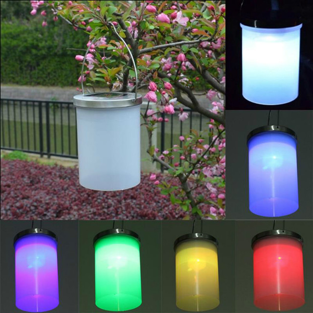 U-EASY 3pcs/ Set LED Solar Light Portable Hanging Lantern Outdoor Garden Lamps Plastic Downlights LED Night Lights
