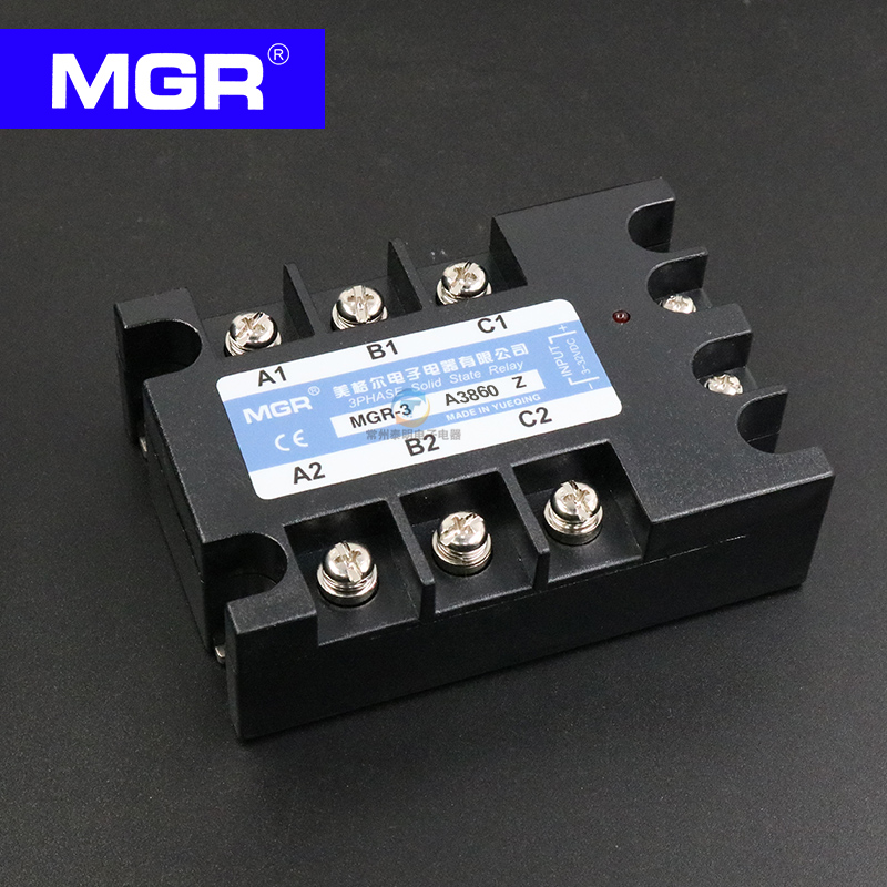 MGR Three-phase solid state relay AC control AC 60A MGR-3A3860Z 380V genuine three phase solid state relay mgr 3 032 3880z dc ac dc control ac 80a