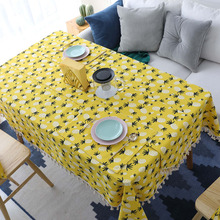 Nodic Pineapple Print Cotton Tablecloth Rectangle Table Cover tafelkleed Cloth Dining Wedding Party Hotel Home Decoration