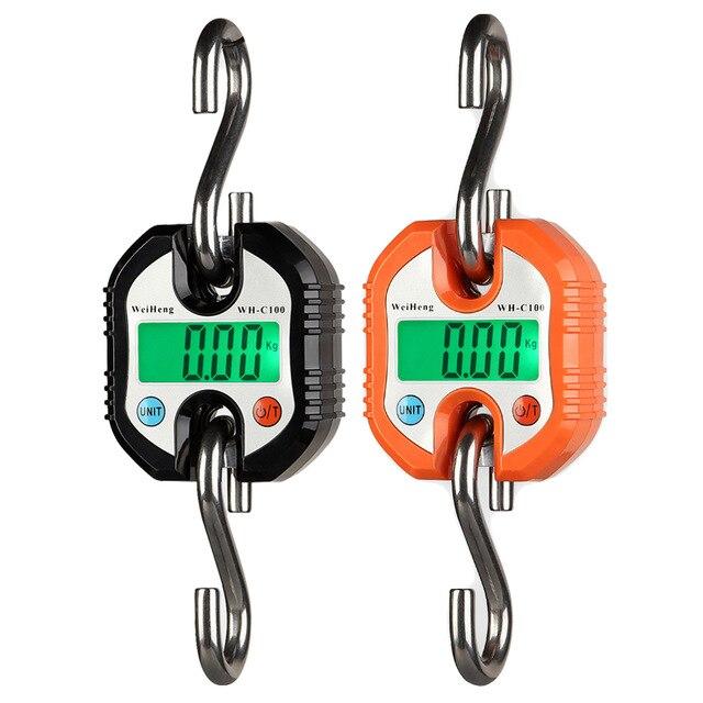 150 kg x 50g/100g Mini Balance électronique Portable Durable numérique crochet Balance Balance Balance Balance LED rétro-éclairage