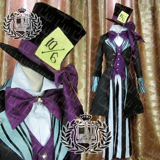 Undertaker Black Butler Black And Purple Custom Size Uniforms