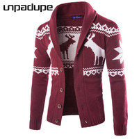 Sweater Men 2018 Brand Concise Deer Christmas Sweater Coat Cardigan Male Printing Slim Mens Cardigan Sweater Coat Man Cardigan