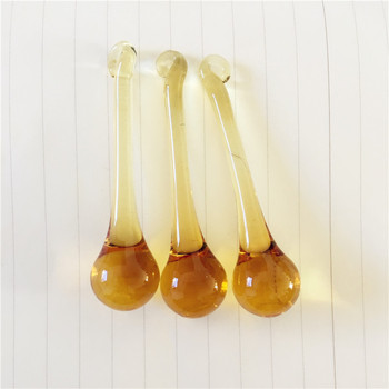 16*60mm Yellow 100pcs Crystal Suncatcher raindrop glass hanging glass lighting raindrop Home Decoration Accessories