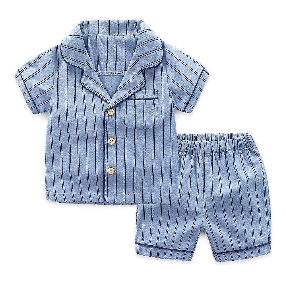 Piżamy Komplety chłopięce Lato 2018 Modne paski Kombinezon nocny - Ubrania dziecięce - Zdjęcie 2