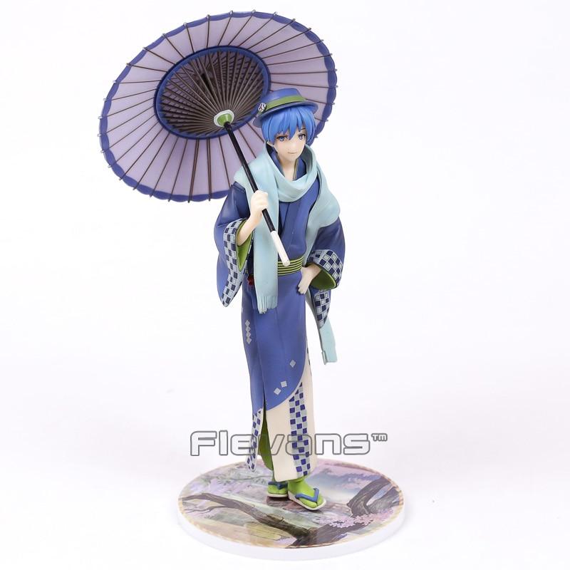 Anime Vocaloid Kaito Hanairogoromo Kimono Flower Cloth 1/8 Scale PVC Figure Collectible Model Toy 23cm vocaloid 3 hatsune miku kaito cosplay shoes anime boots