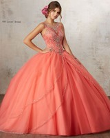2017 Ball Gown Quinceanera Dresses For 15 Years Puffy Skirts Tulle Open Back Vestido De Debutante