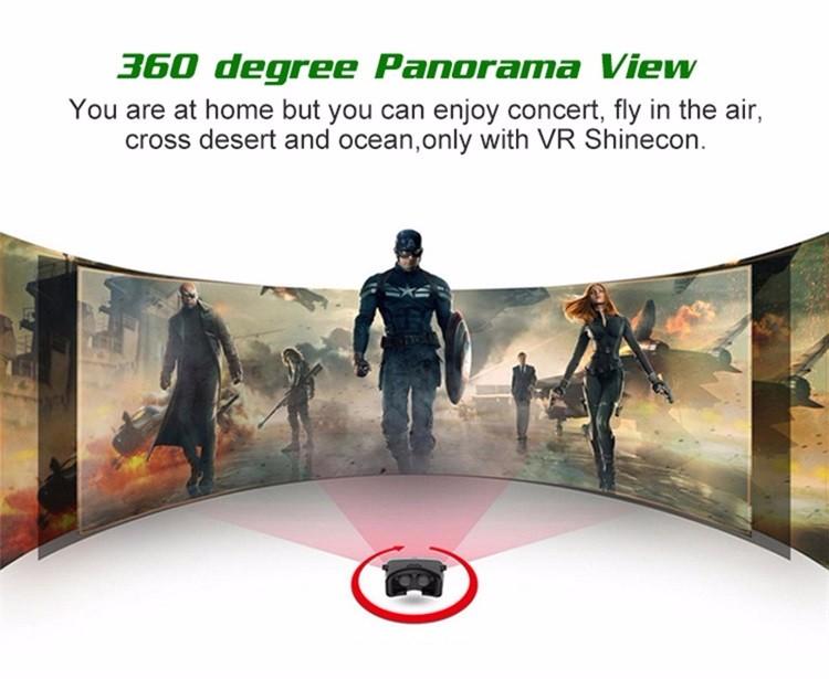18 Original Shinecon VR Pro Virtual Reality 3D Glasses Headset VRBOX Head Mount Google Cardboard Helmet For Smartphone 4-6inch 11