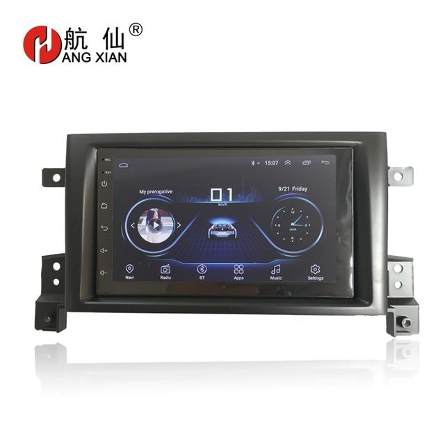 HANGXIAN 2 din Android 8.1 car radio stereo car stickers for SUZUKI Grand Vitara Nomade 2005-2011 car dvd player car accessaries