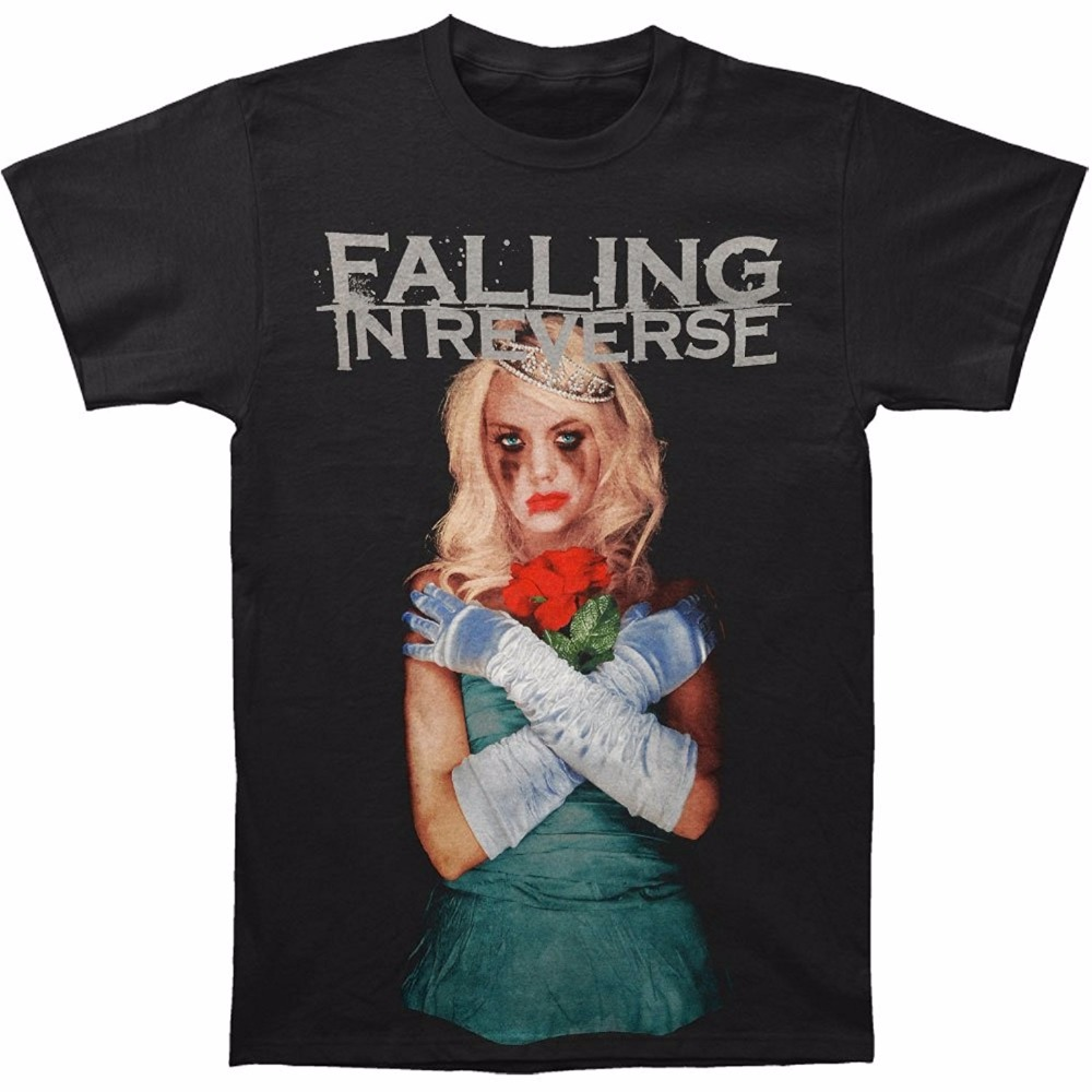 Falling In Reverse Men's Coffin Girl Album Slim Fit T-Shirt Black Casual Cotton Tee Shirts