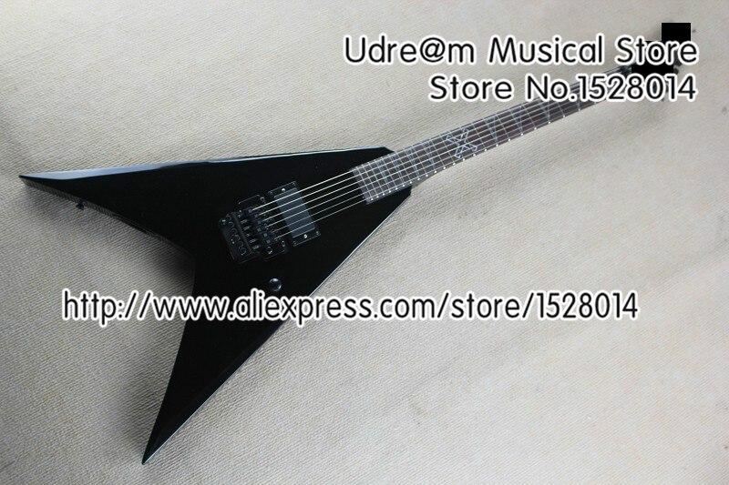 Vente chaude noir Jackson volant V Suneye guitare électrique avec trémolo gaucher personnalisé disponible