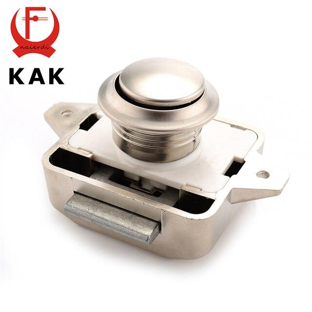 10PCS KAK Camper Car Push Lock 26mm RV Caravan Boat Motor Home Cabinet  Drawer Latch Button