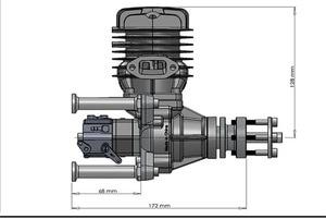 Image 5 - Dle 원래 새로운 dle55 55cc dle 단일 실린더 2 스트로크 가솔린/가솔린 엔진 rc 비행기