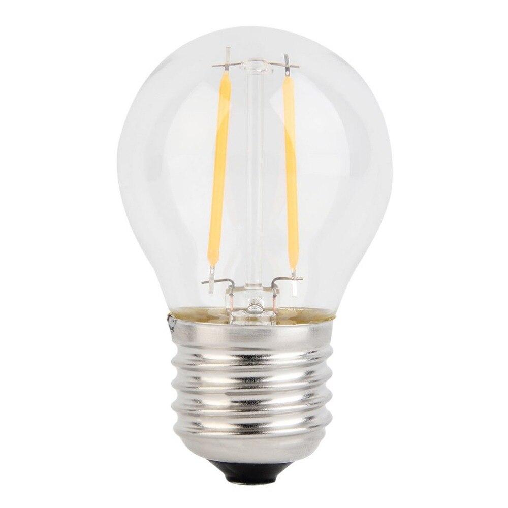 Hot Sale E27 2W LED Retro Bulb Glass Edison Light Lamp Filament Bulb Dimmable Retro Fashion Edison Style Warm White Lamp Home