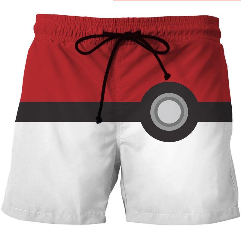 Men Summer Quick Dry Beach   Board     Shorts   Trunks 2018 3D Funny Print Mesh Pocket Boardshorts Homme Casual Hip Hop Hawaiian   Shorts