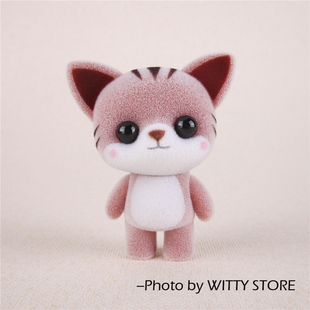 Little Cute Flocking Doll Toys Kawaii Mini Cats Decoration Toys For Girls Little Exquisite Dolls Best Christmas Gifts For Girls leather car seat covers for land rover discovery sport freelander range sport evoque defender car accessories styling