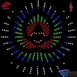 Zirrfa для ИК-переключатель танцевальный светильник cubeed, светодиодный музыкальный спектр электронный diy kit