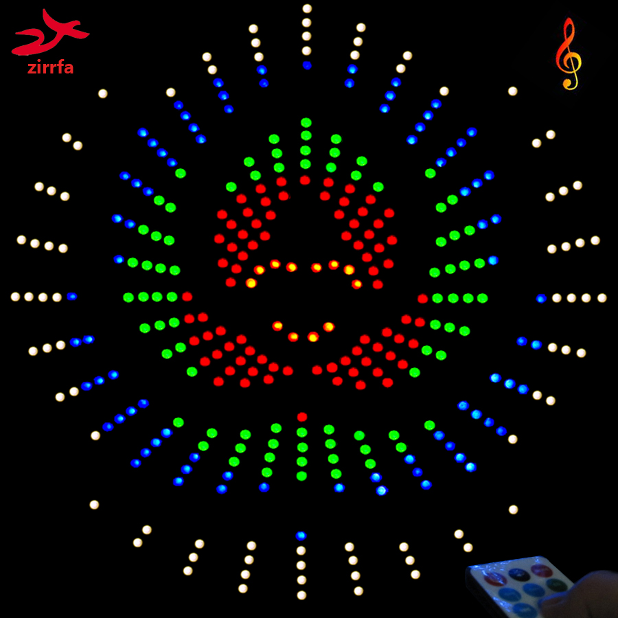 Zirrfa для ИК-переключателя танцевального света Cubeed, светодиодный музыкальный спектр, электронный набор Diy