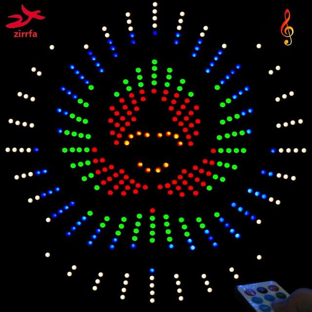 Zirrfa עבור IR מתג ריקוד אור cubeed, led מוסיקה ספקטרום אלקטרוני ערכת diy