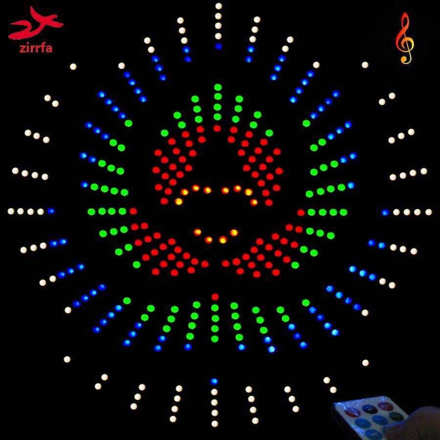 Zirrfa Para IR De Baile Luz Cubeed Led Espectro De La Música Electrónica, Kit De Bricolaje,