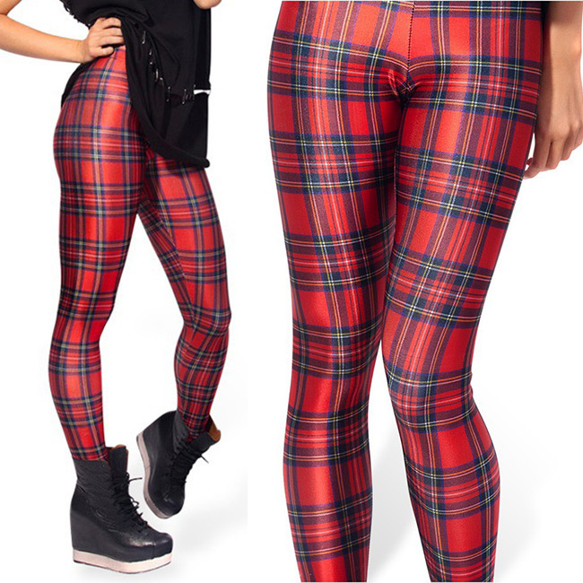 Red Plaid Fashion Women Legging Womens Leggings Jeggings Women Pants Adult  Legging Printed Leggings(China - Popular Red Plaid Pants-Buy Cheap Red Plaid Pants Lots From China