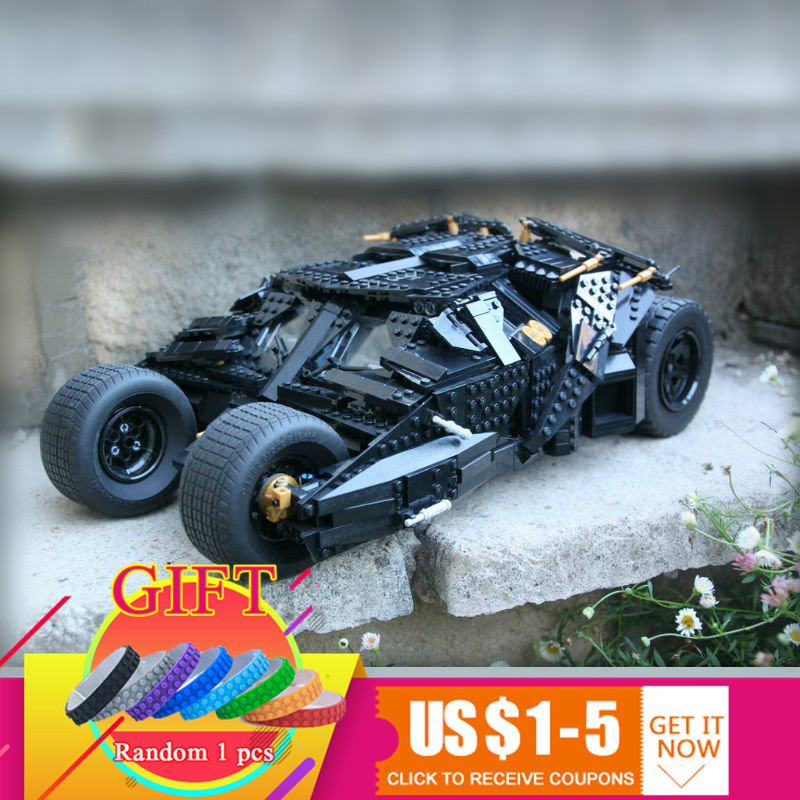 07060 1969Pcs Super Movie Hero Batman The Tumbler set Compatible with 34005 76023 Building Blocks Gift Toys for Children lepin creative lavender pattern design removable 3d wall sticker for home decor