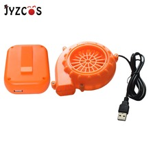 JYZCOS Eletric Mini Fan Blower for Inflatable Costumes Joys Small Air Blower with Battery Pack Powered by AA Batteries USB Port inflatable sky dancing tube man ghost chef outdoor waving air dancing man for advertising celebration without fan blower