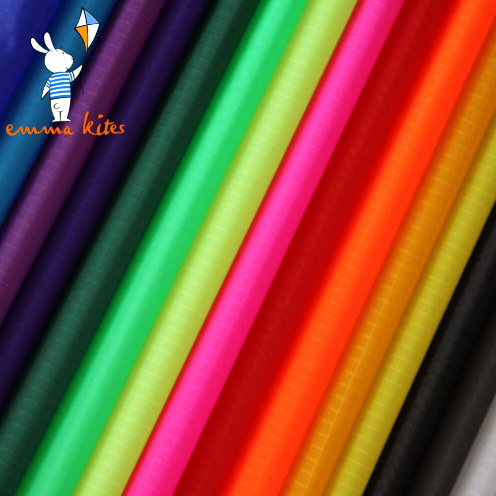 Ripstop Nylon Kite Fabric 10 Meters PU Coated Outdoor Water Repellent Fabric Bag Banner Making Cloth Tent Tarp Cover Stuff Sack