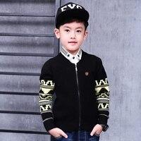 PioneerKids New Autumn Winter 1 6yrs Children Sweater Knitwear Knit Zipper Sweatercoat Boy Sweater Cardigan