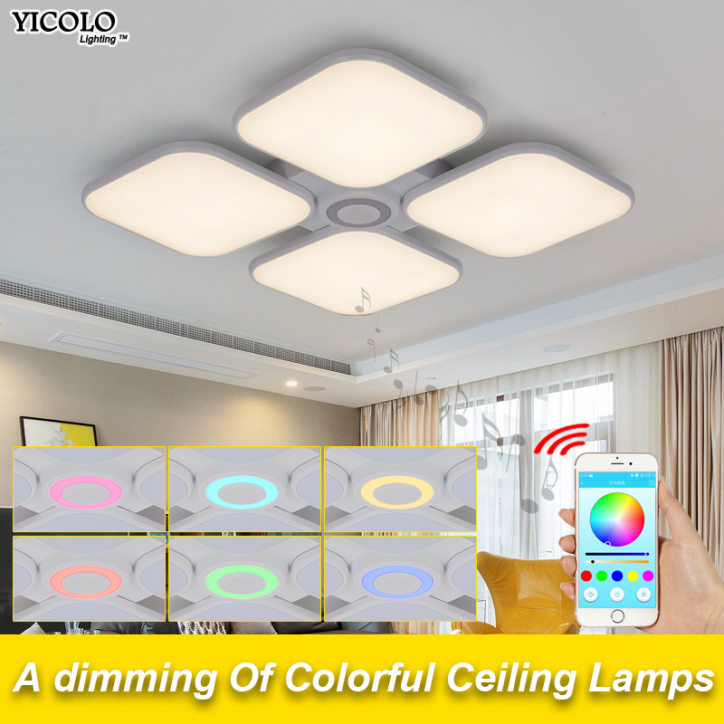 Lurido Luci Bianco Freddo + Warm White Luce luminaria di Musica di Bluetooth Intelligente APP Controllo Paralume/Luce di Soffitto Moderna