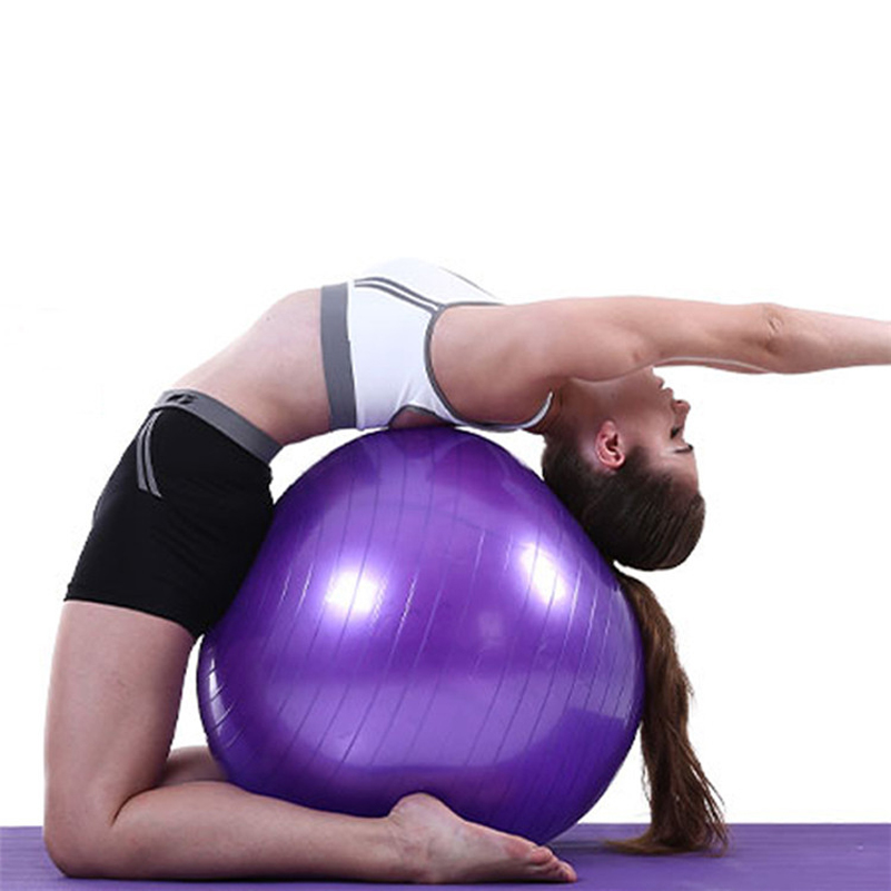45cm Yoga Ball Exercise Gymnastic Fitness Pilates Ball Balance Exercise Gym Fit Yoga Core Ball Indoor Fitness Training Yoga Ball Firm In Structure